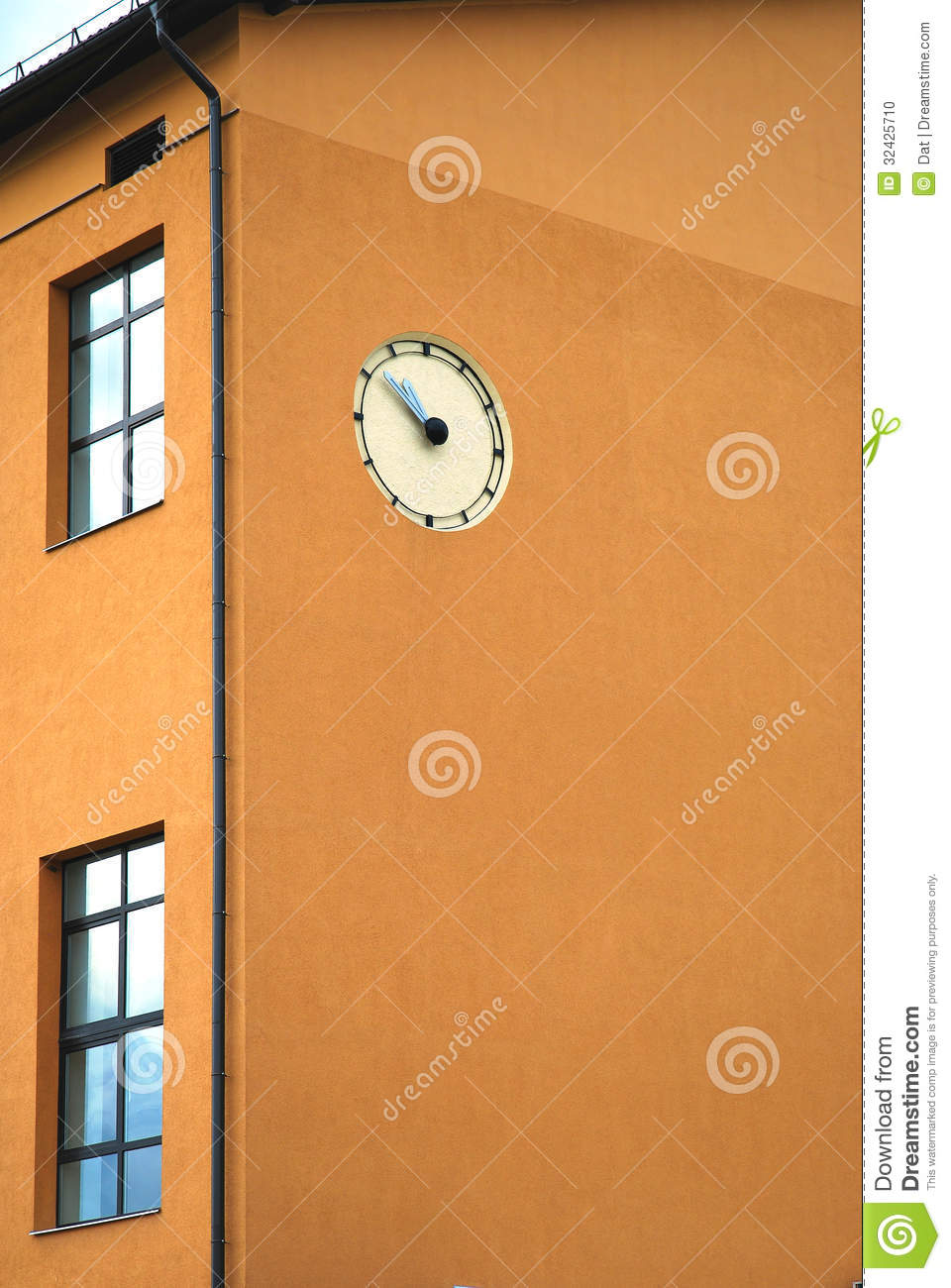 Wall Clock On A Building Stock Photo Image 32425710