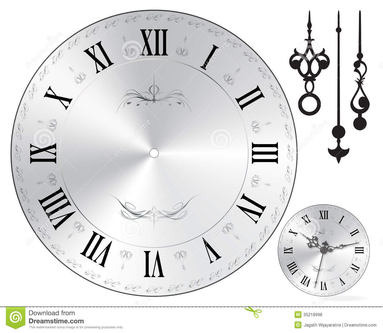 Wall clock face stock vector. Illustration of background - 35218998