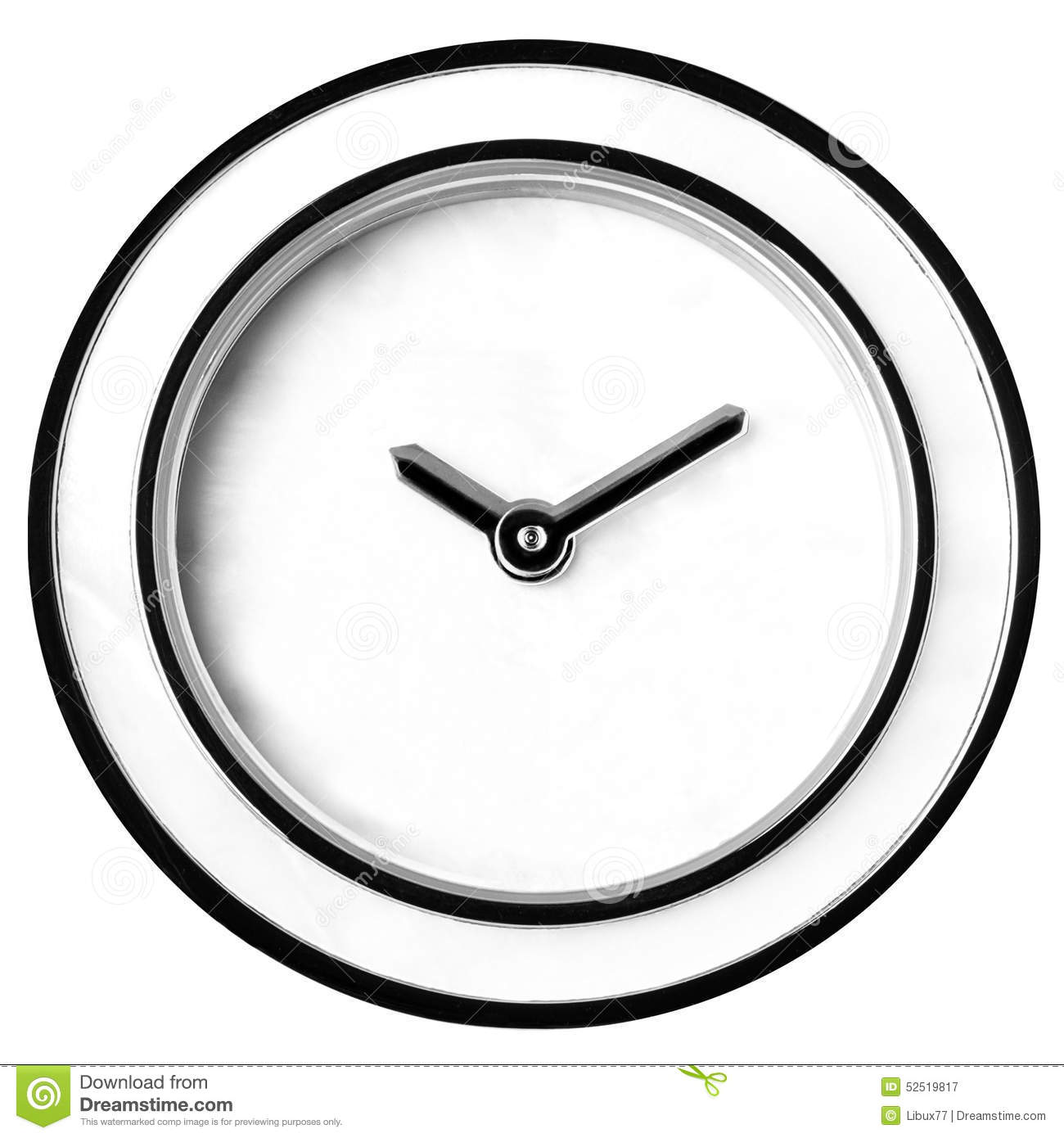 Wall Clock Without Numbers Isolated Stock Image Image Of Moment