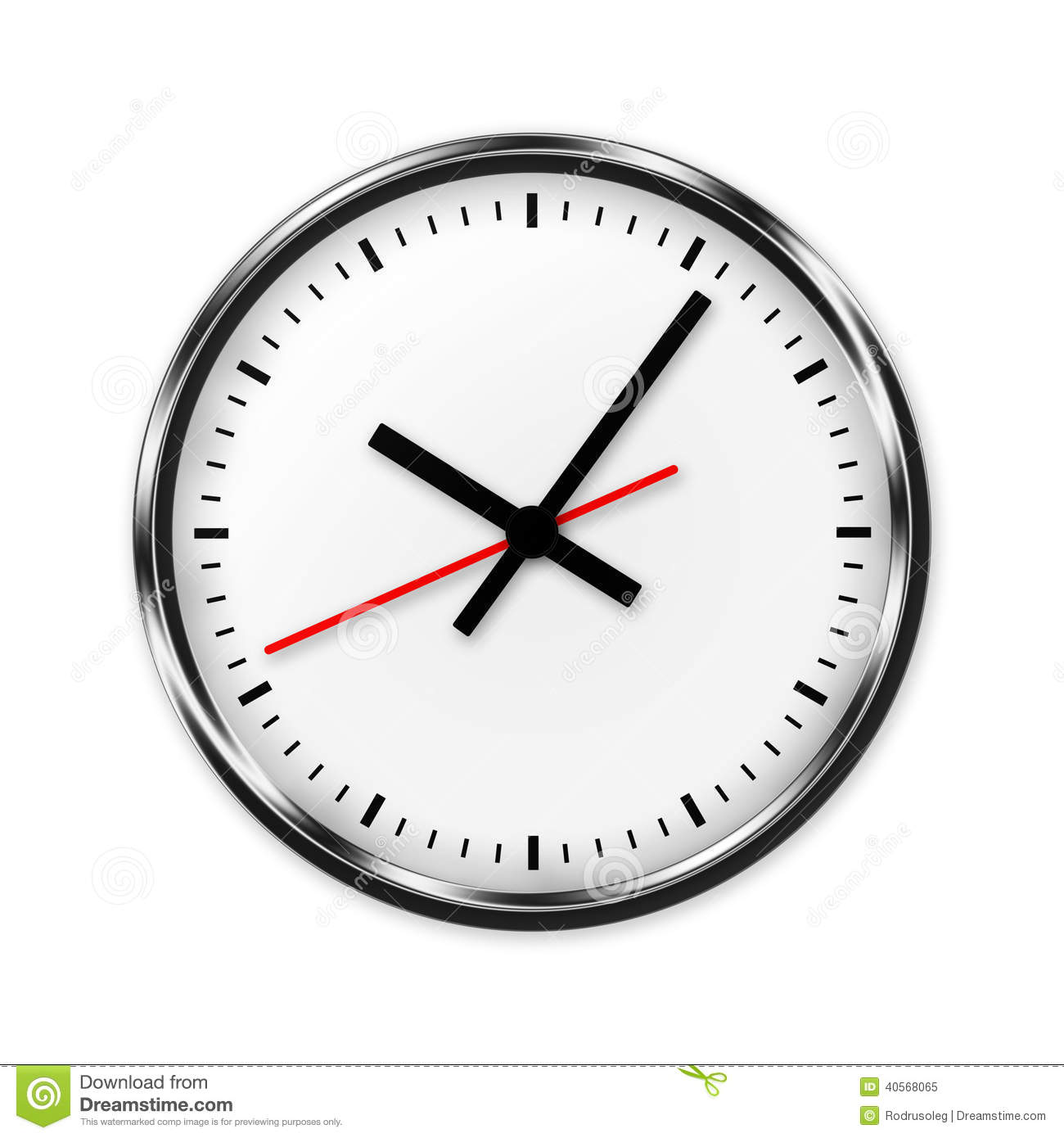 Wall Clock Without Numbers Stock Illustration Illustration Of