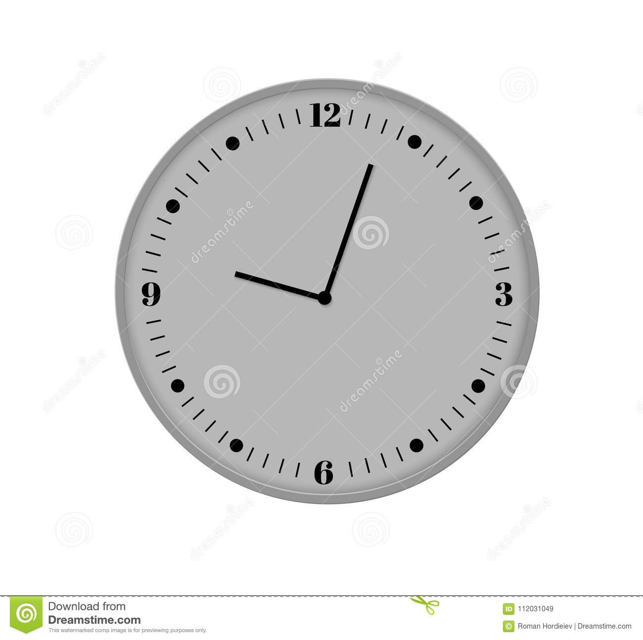 Wall Clock Office Template Design In Vector Closeup The Layout For