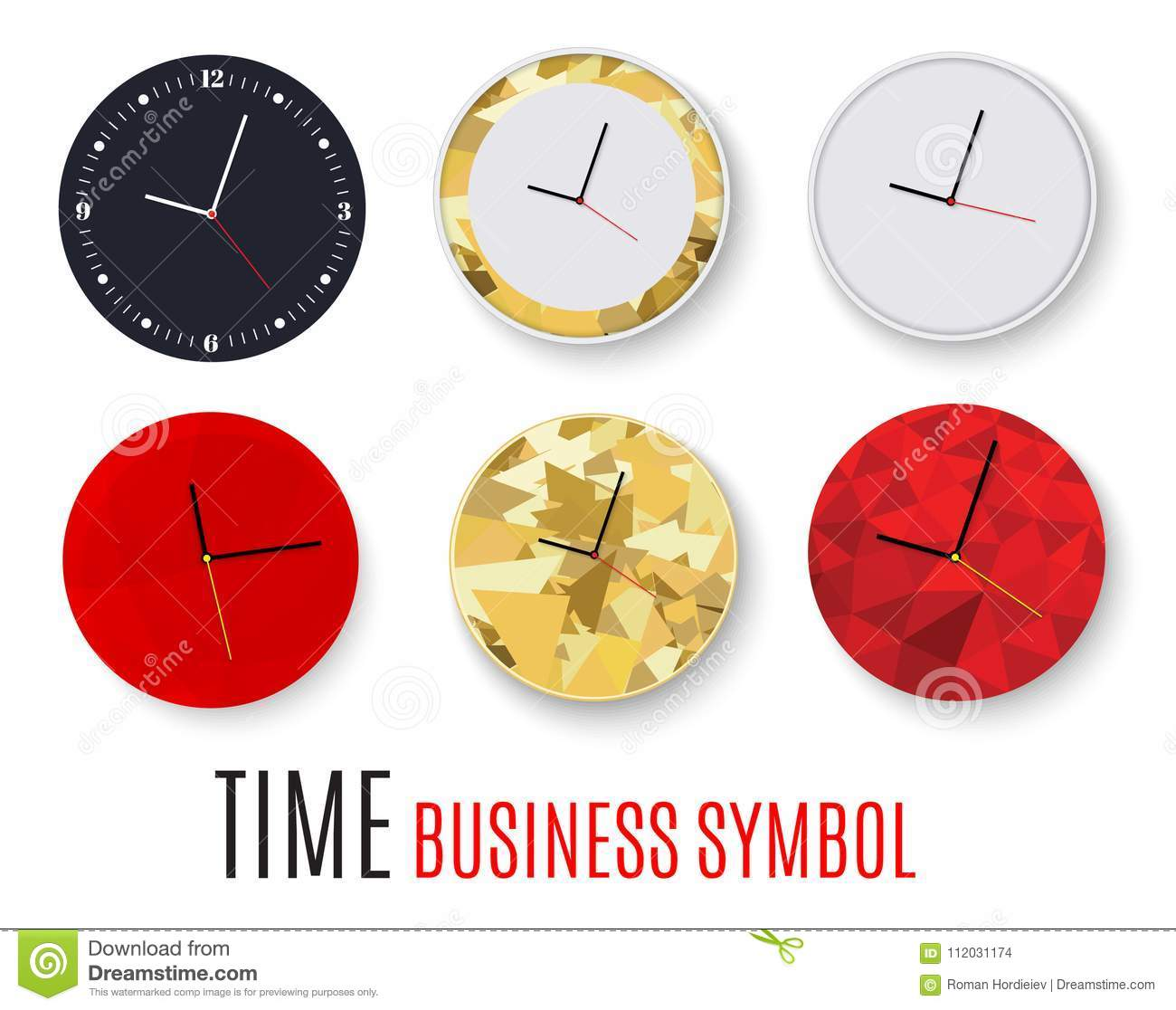 Wall clock office template design in vector closeup the layout for download wall clock office template design in vector closeup the layout for branding and ccuart Choice Image