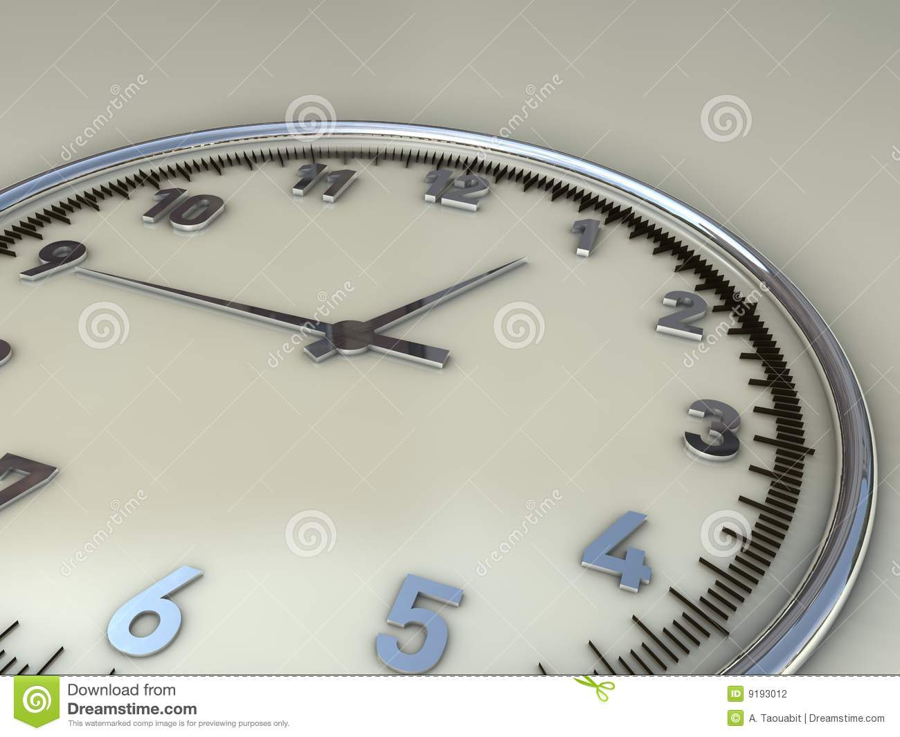 Wall Clock Showing Midday Time Range Stock Photography ...