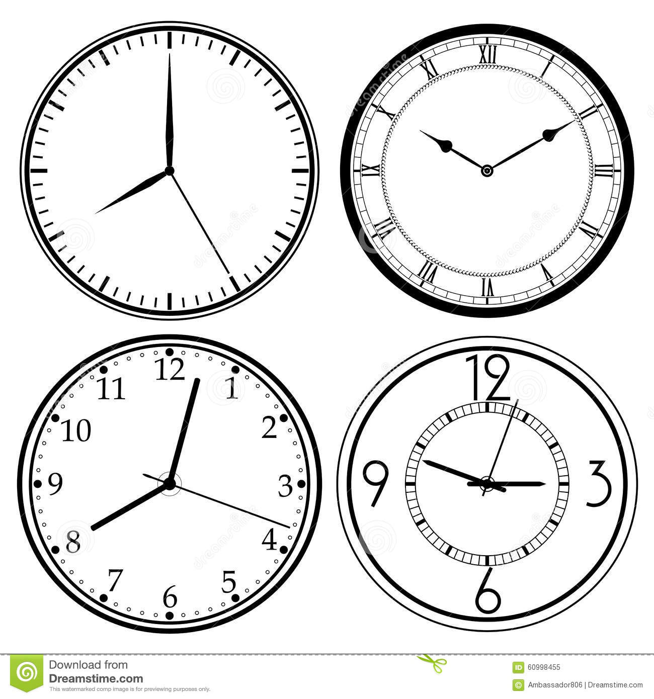 Wall Clock template stock image. Image of morning, interior - 60998455