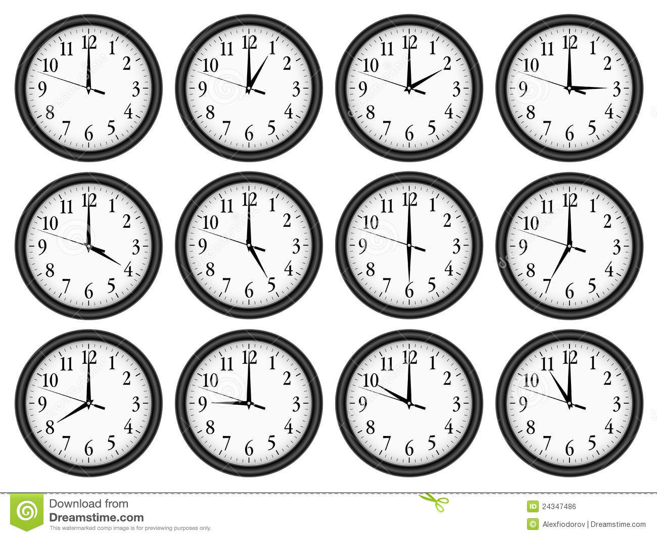 wall clocks set  3  4 royalty