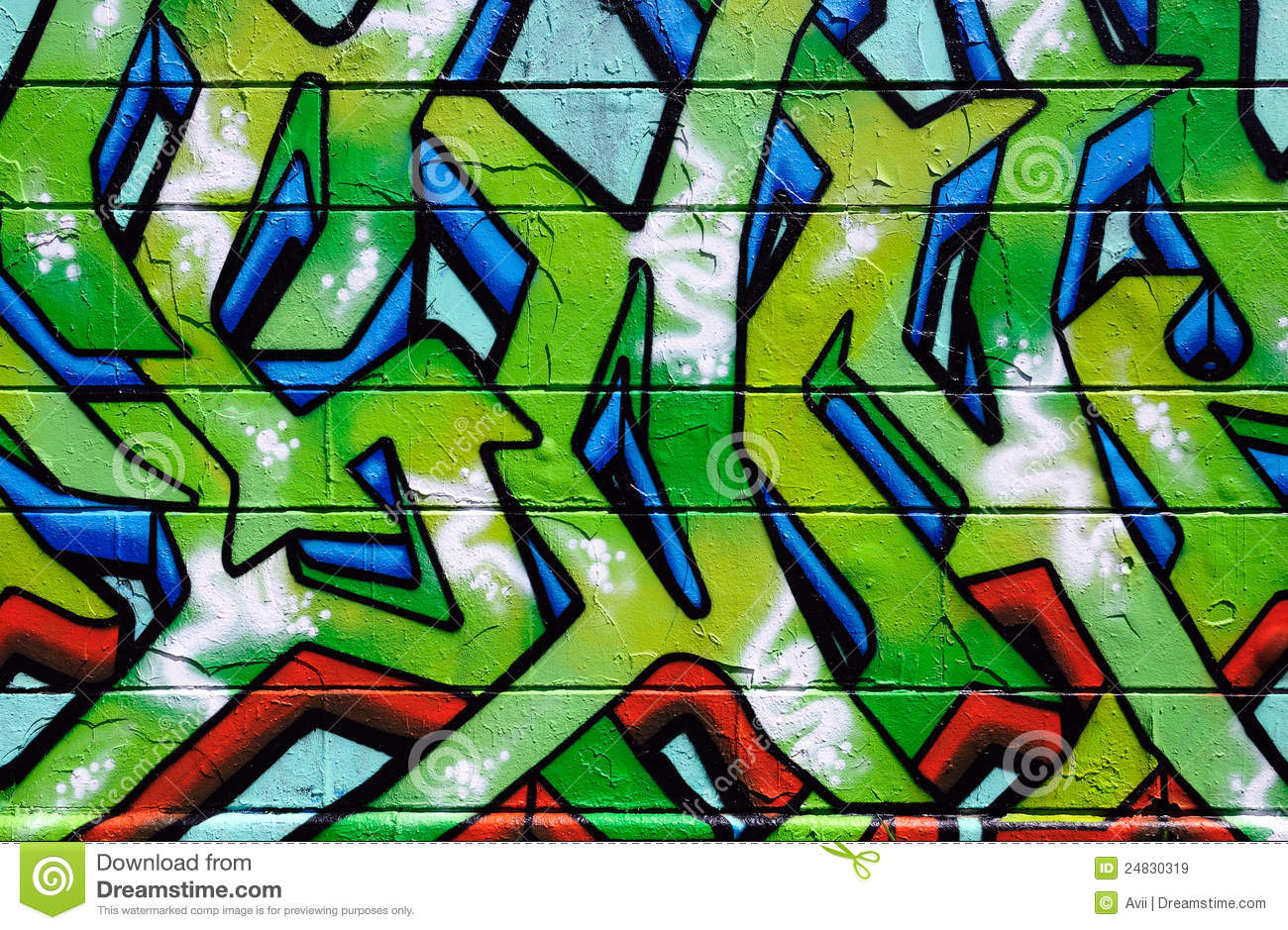 Wall Covered In Colorful Graffiti Royalty Free Stock