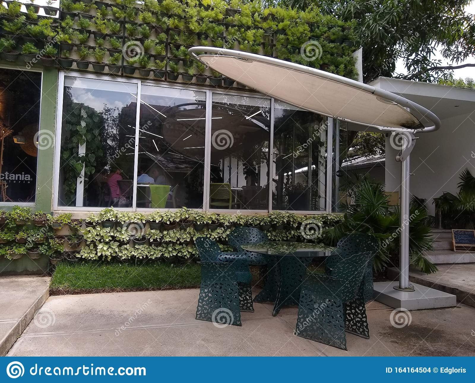 Wall Covered In Vegetation Outside Restaurant Green Concept Climate Friendly Editorial Stock Image Image Of Exterior Climate 164164504