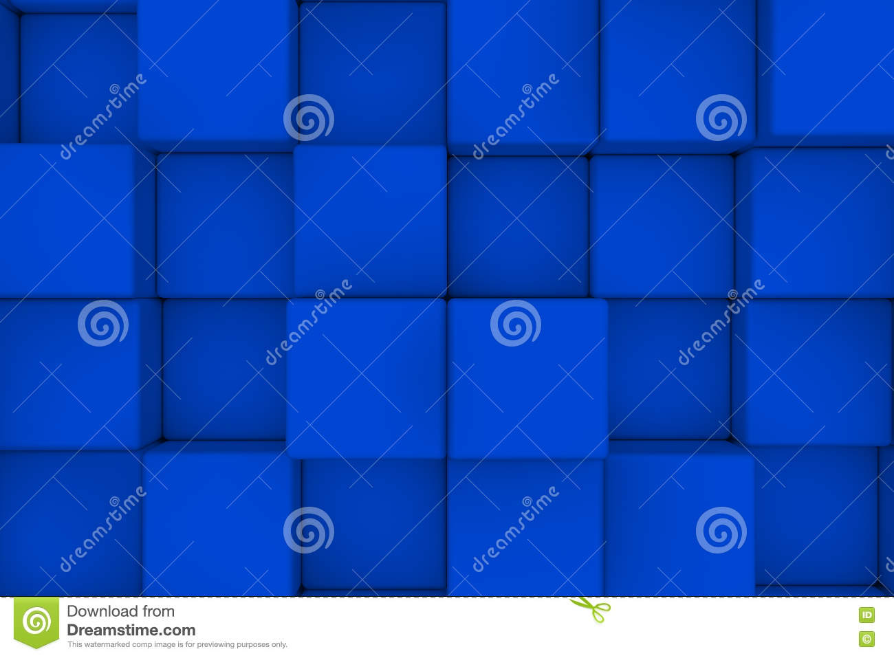 Wall of cubes. Abstract background. 3d render