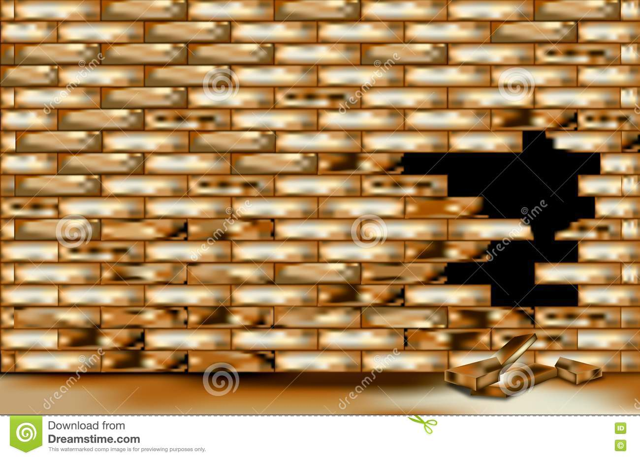 Wall Damage For Background Royalty Free Stock Images