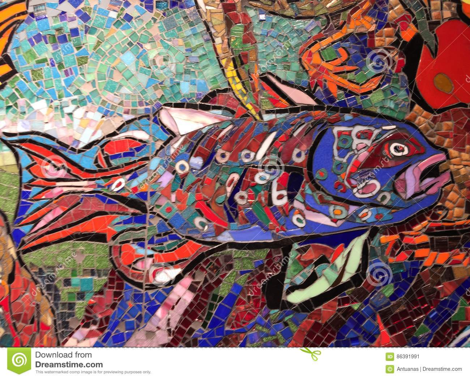 Wall decoration underwater