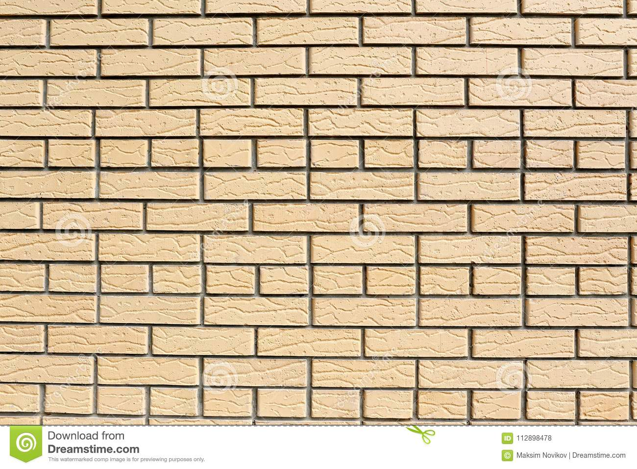 Wall of decorative bricks. stock illustration. Illustration of block ...