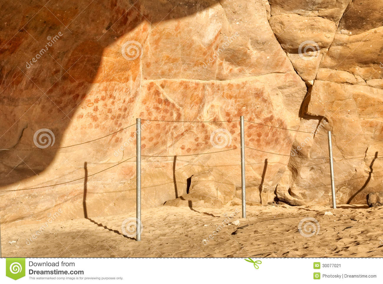 Wall In The Elands Bay Cave With Rock Art Stock Image - Image of ...