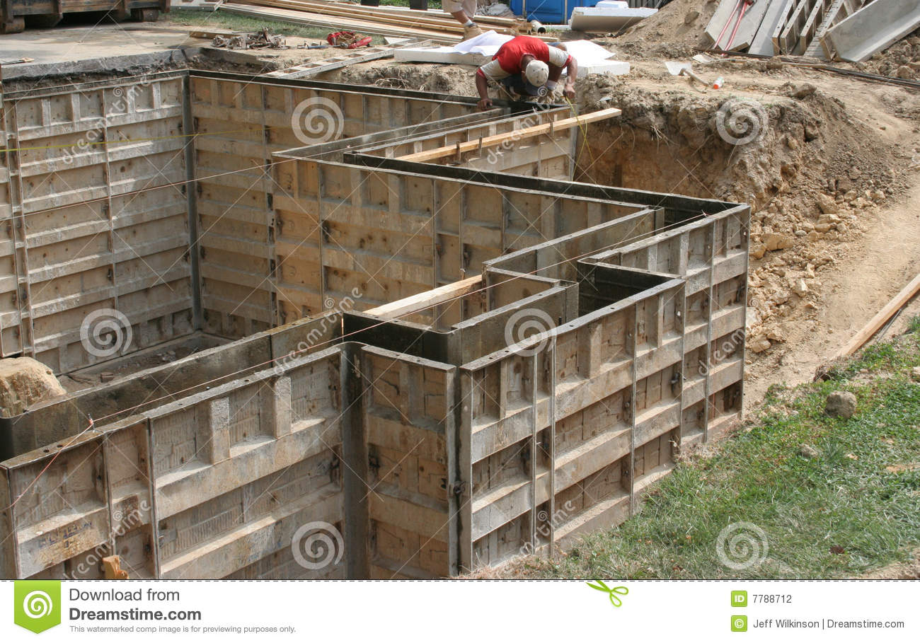 Wall Forms Molds For Concrete Stock Photo Image Of