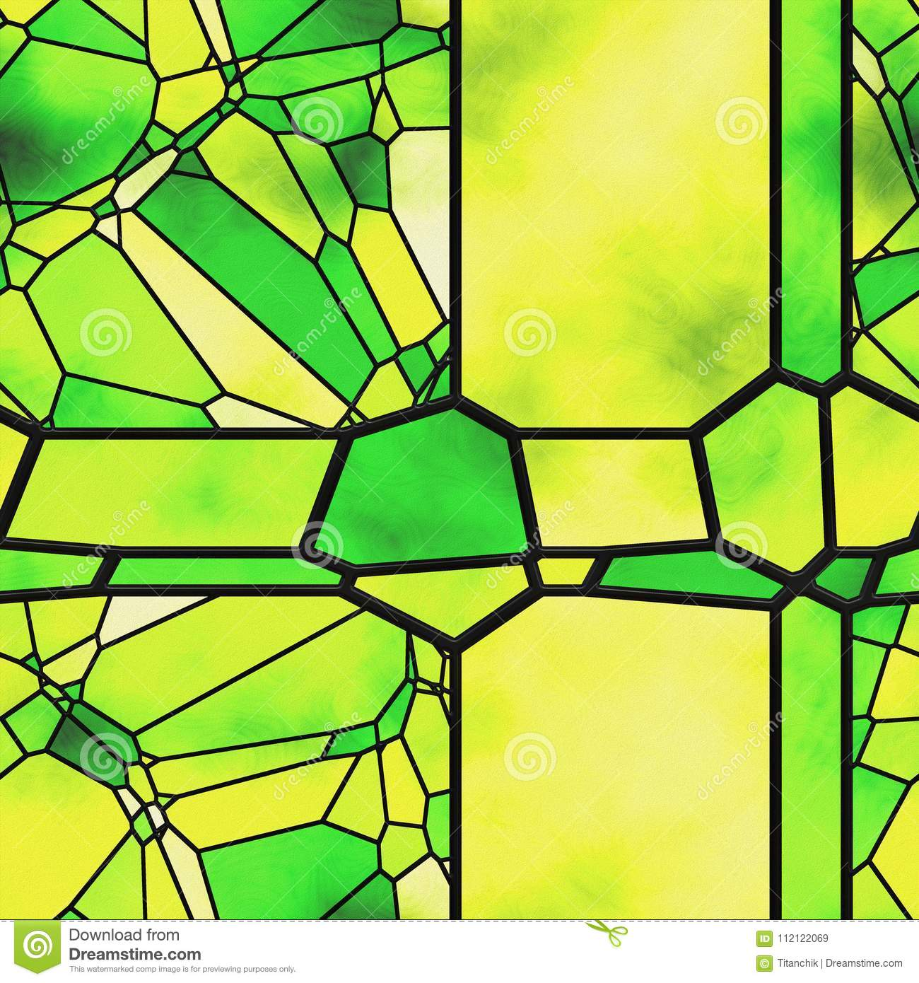 Abstract Stained Glass- Metal Grate Stock Illustration ...