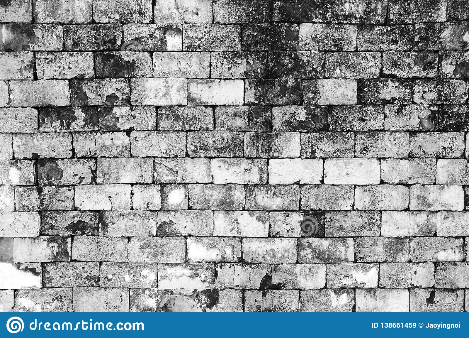 Wall grunge black and white brick paint color background dirtydust old wall red brickbackdrop texture and splash white color or abstract background