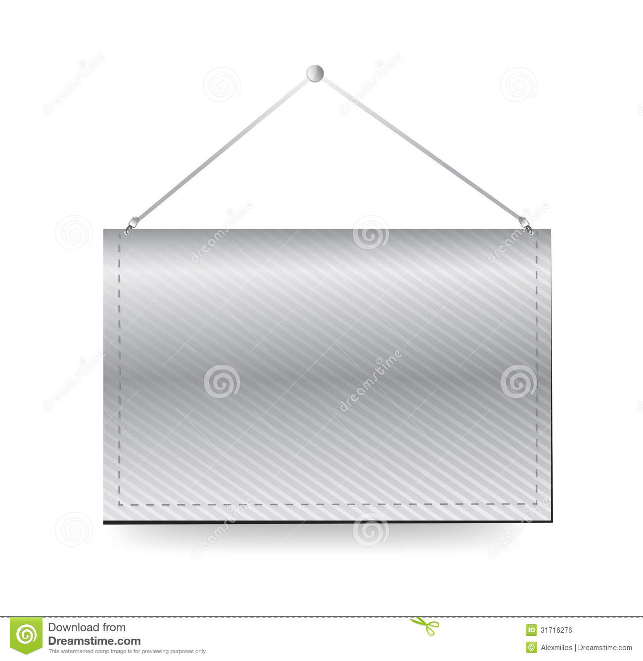 template for hanging pictures - wall hanging blank template banner royalty free stock