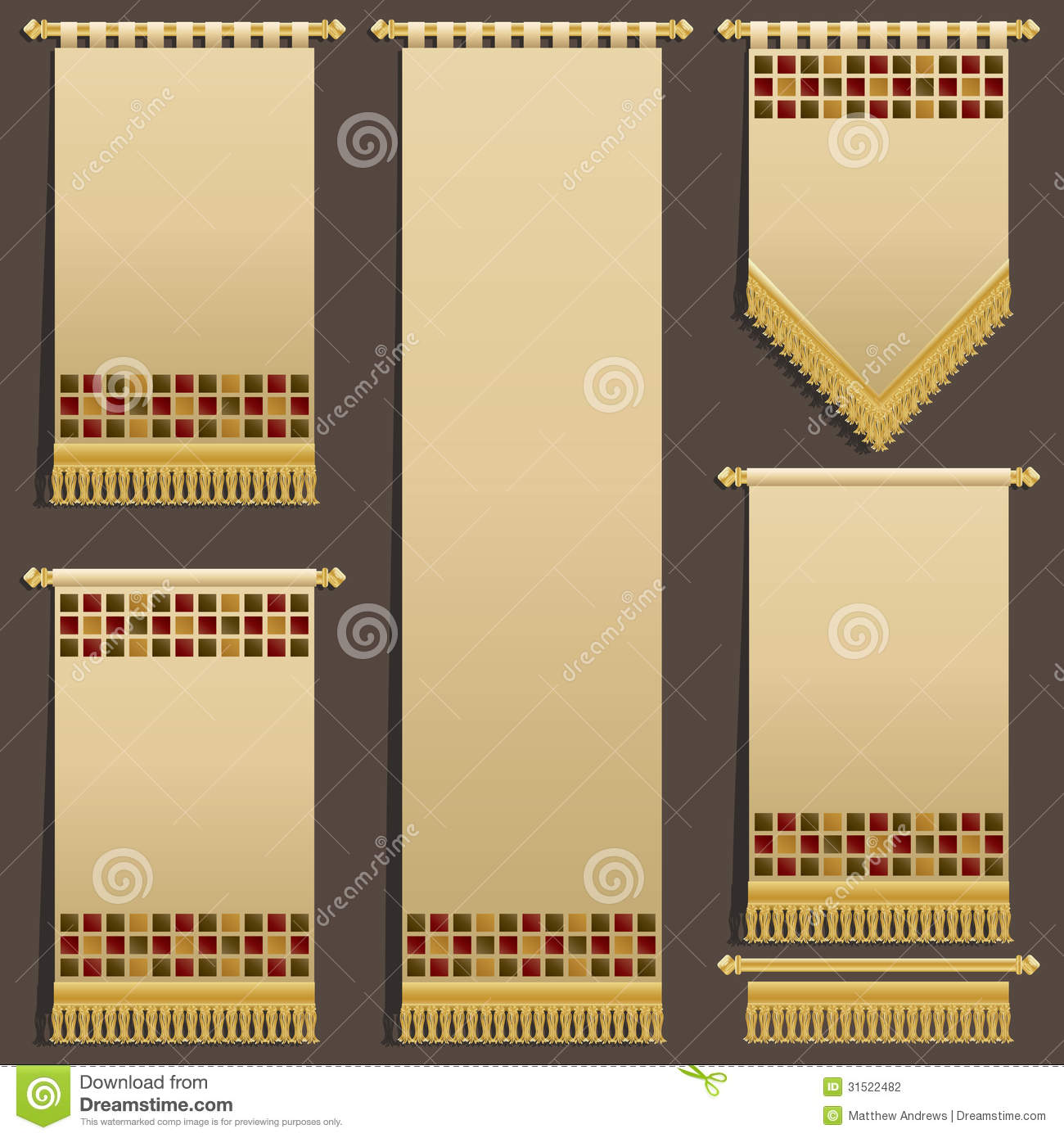 Wall hangings stock vector. Illustration of fabric, finial - 31522482