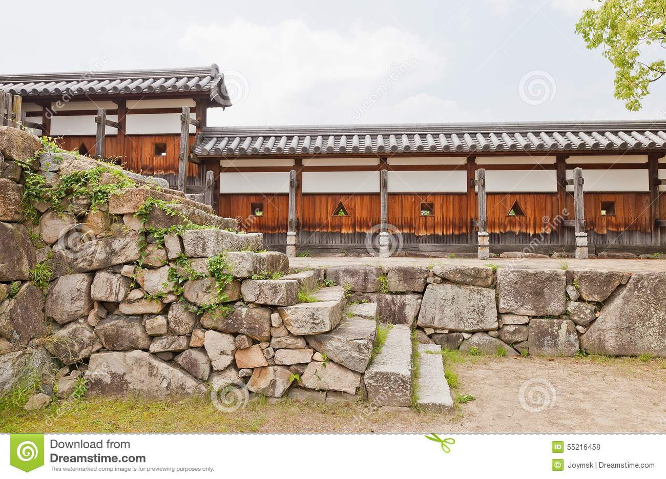 Download Wall Of Hiroshima Castle, Japan. National Historic Site Stock Photo - Image of military, main: 55216458