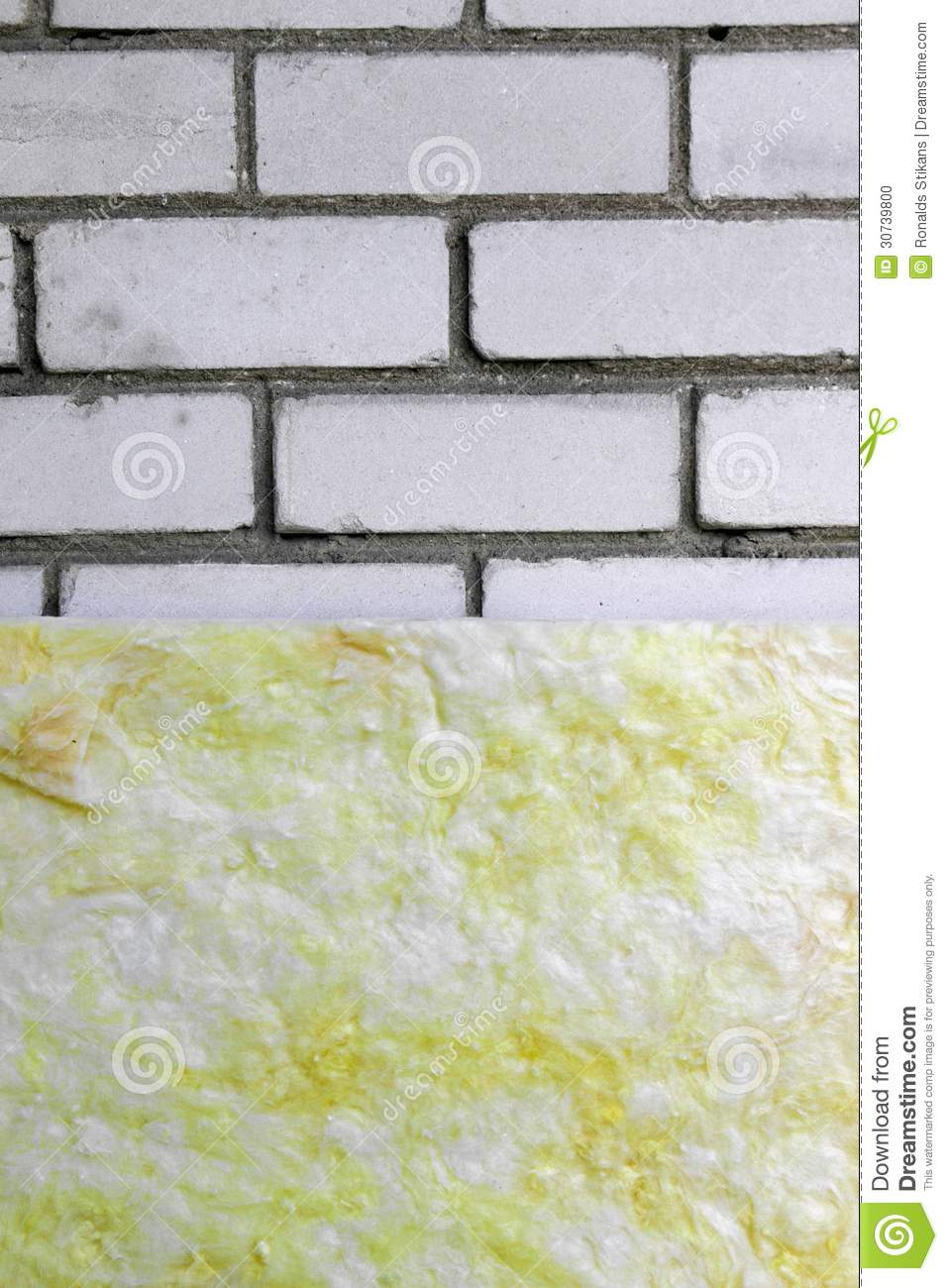 Wall Insulation With Rock Wool Stock Photo Image 30739800