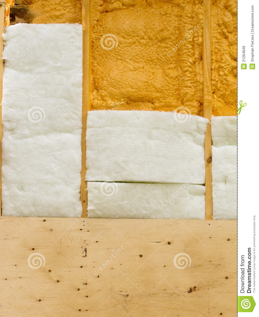 Different Types Of Wall Insulation : Wall insulation to save heating energy royalty free stock