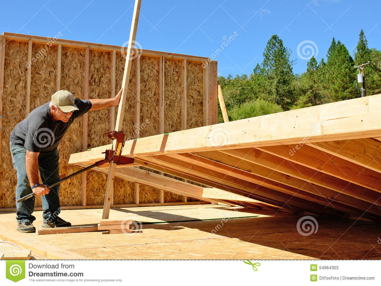 Wall jack stock photo image 54964303 for How to build a house without a contractor