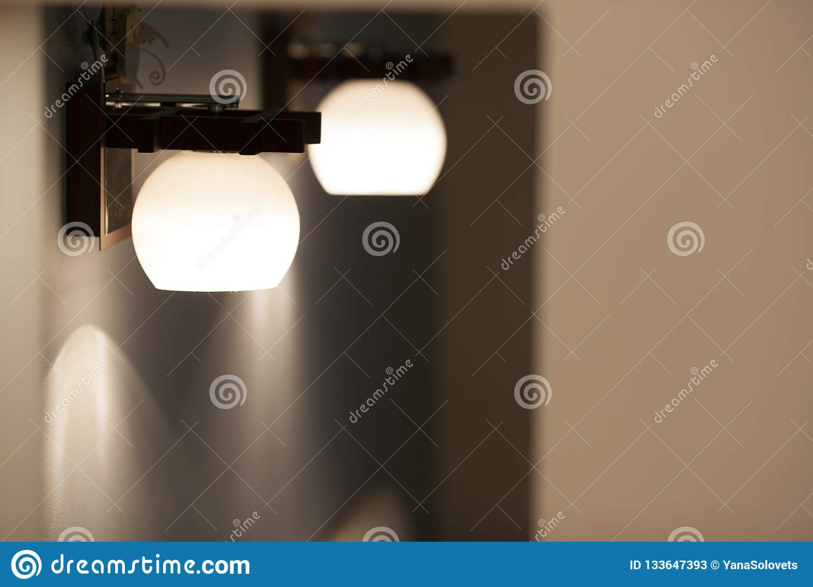 Wall lamps with white shade