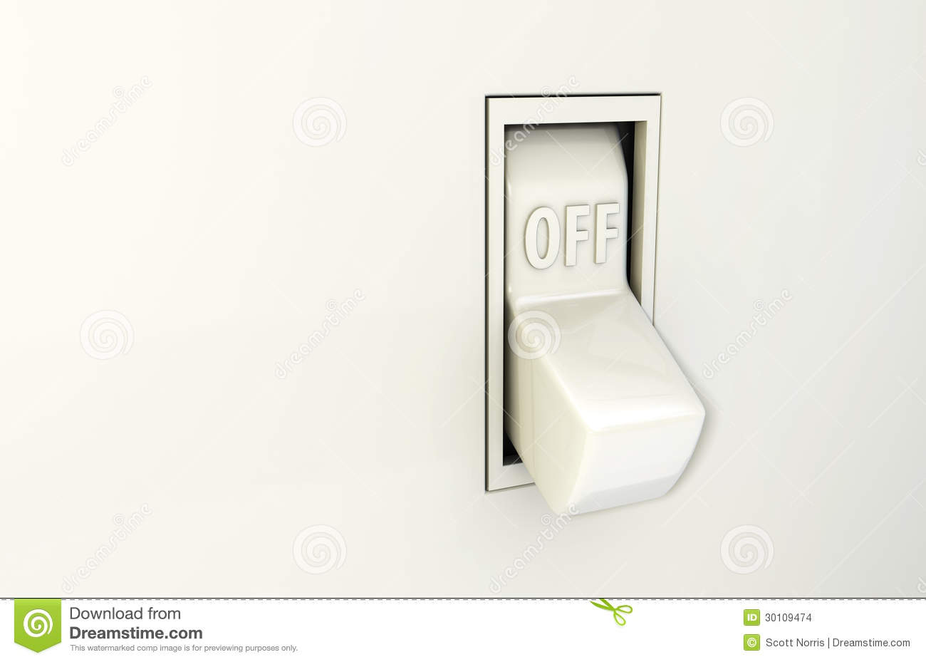 Wall Switch Off stock illustration. Illustration of power - 30109474