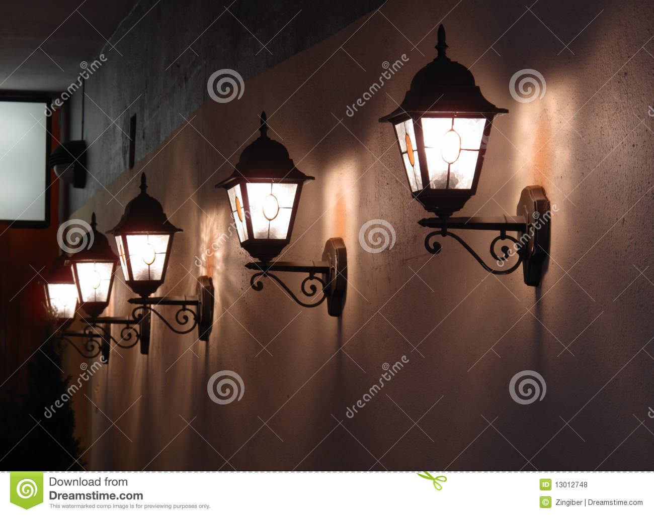 Wall Street S Bright Lights : Wall Lights On A Street In Tallinn Royalty Free Stock Photos - Image: 13012748