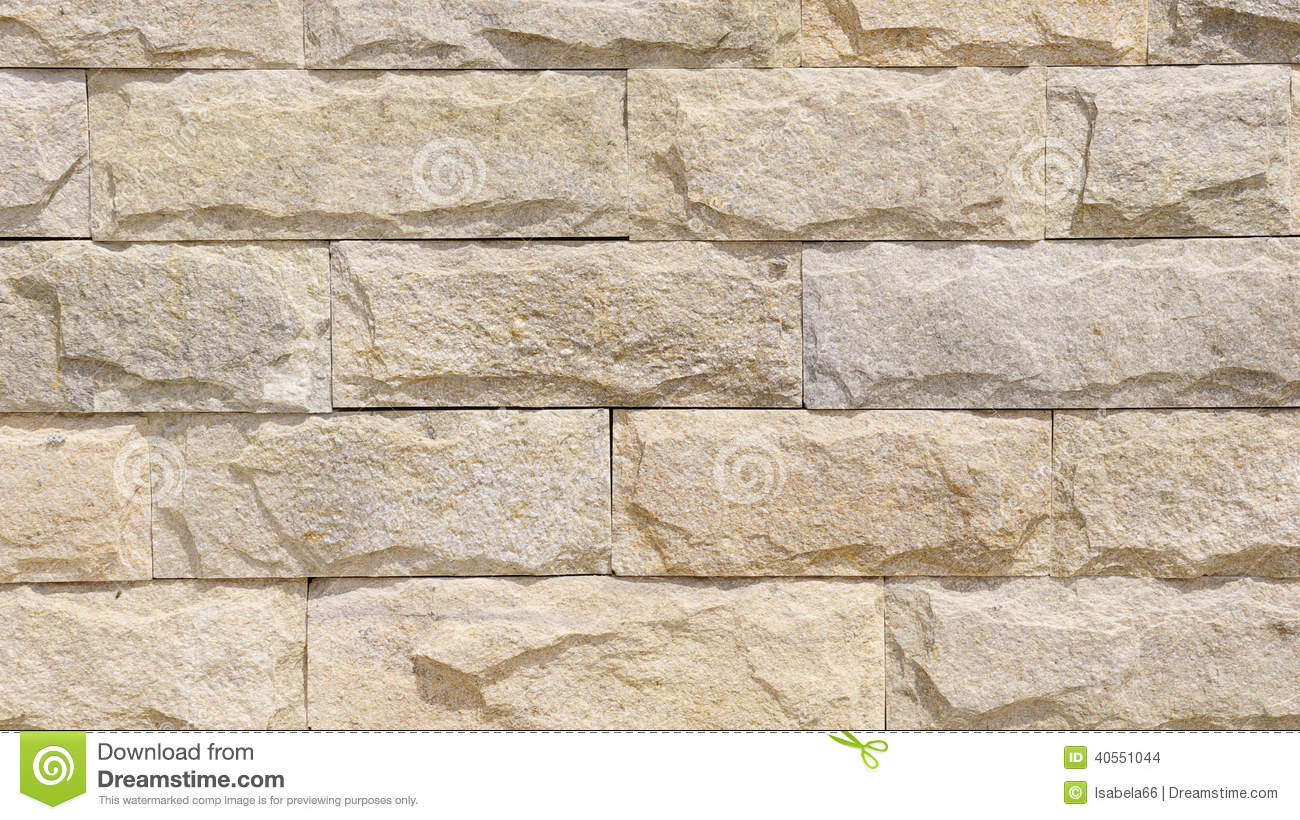 Wall Lined With Limestone Slabs Stock Photo Image 40551044