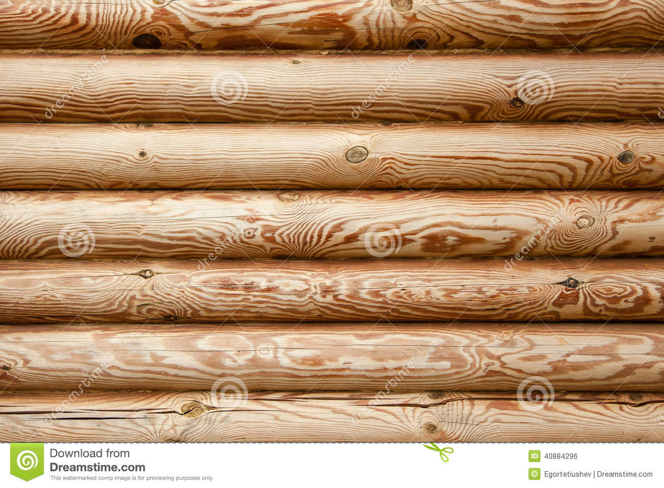 Logs wooden house art of wood construction background texture with