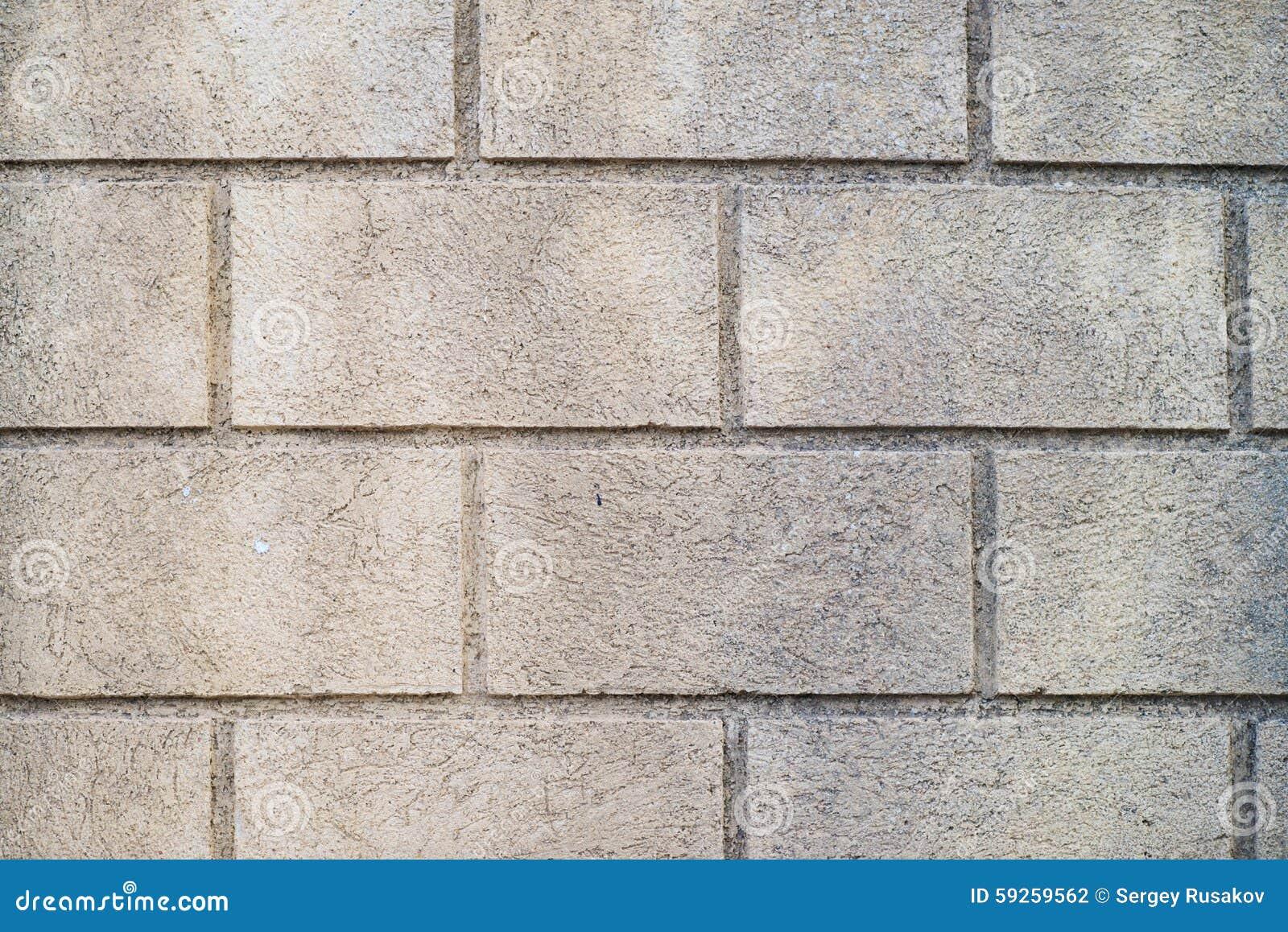 Wall made of big bricks