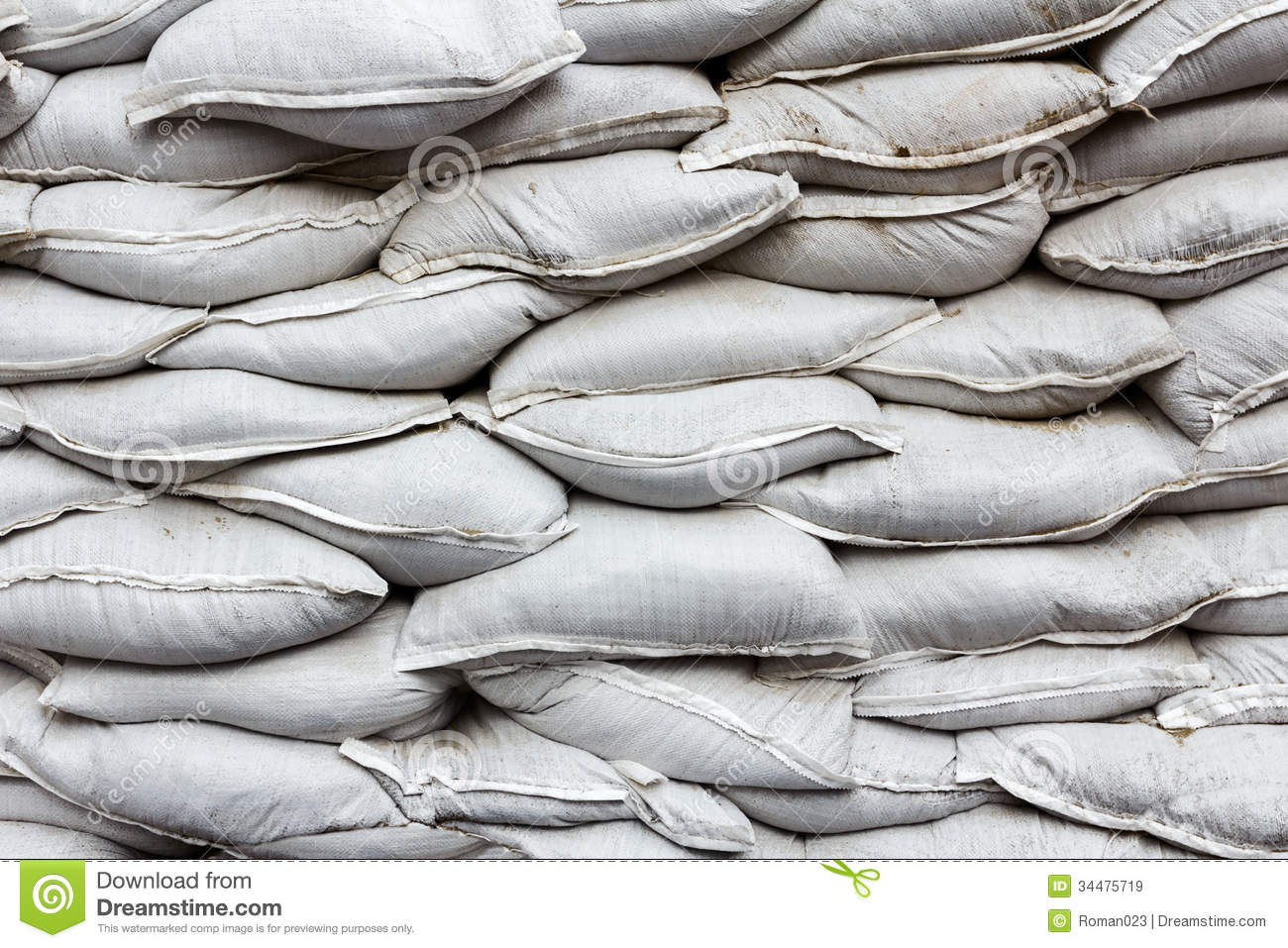 Wall Made Of White Bags Royalty Free Stock Images Image