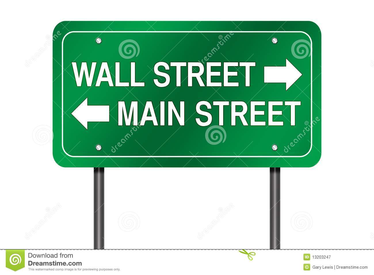 Wall and Main street sign