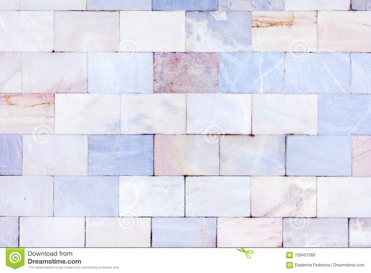 Wall Of Marble Tiles. Stone Texture. Empty Unusual Background. Stock ...