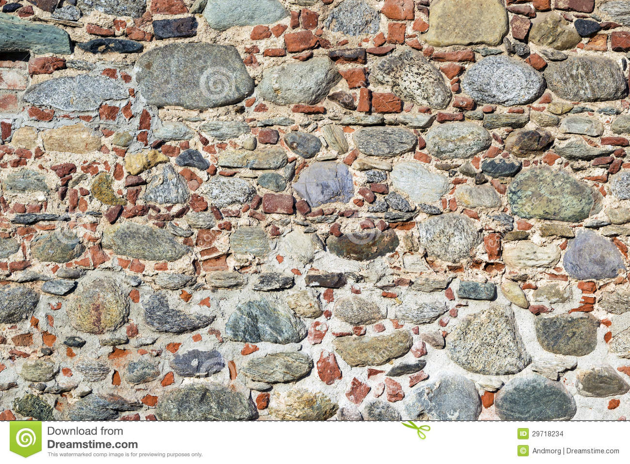 Stones and bricks wall stock images image 29718234 for Mixing brick and stone