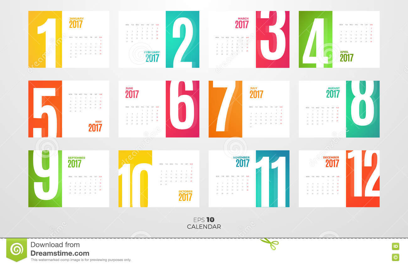 Weekly Calendar Vector : Monthly calendar for cartoon vector cartoondealer