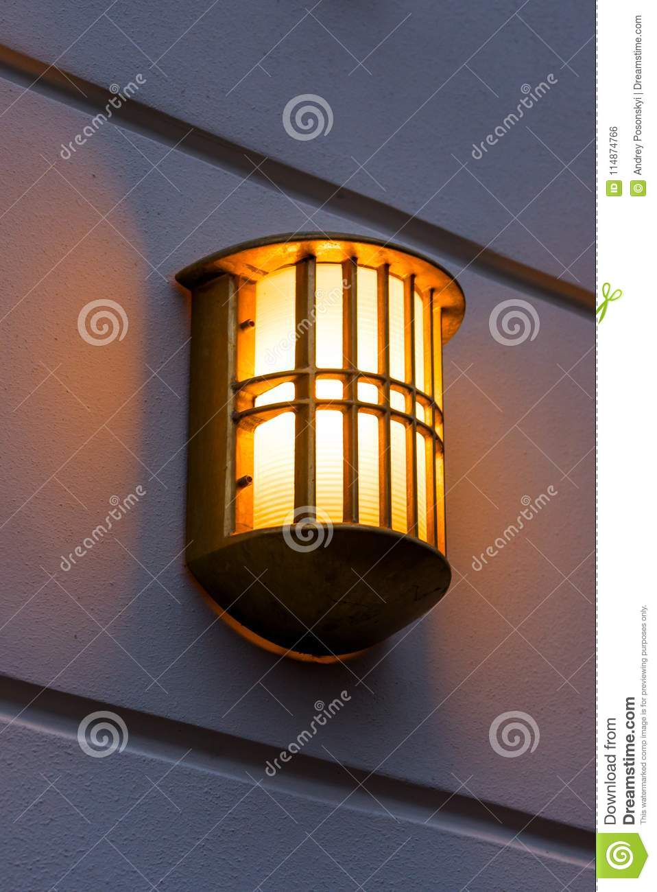 Wall The Stock Lamp On Street All weather mounted Photo ARj543L