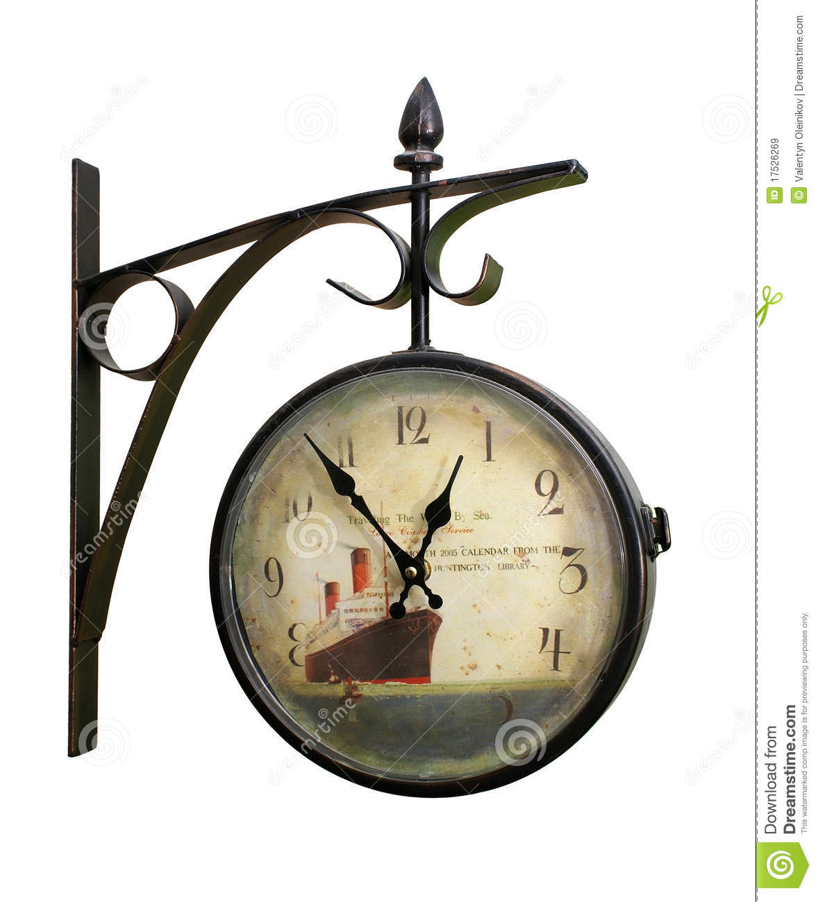Wall mounted clock royalty free stock images image 17526269 - Wall mounted grandfather clock ...