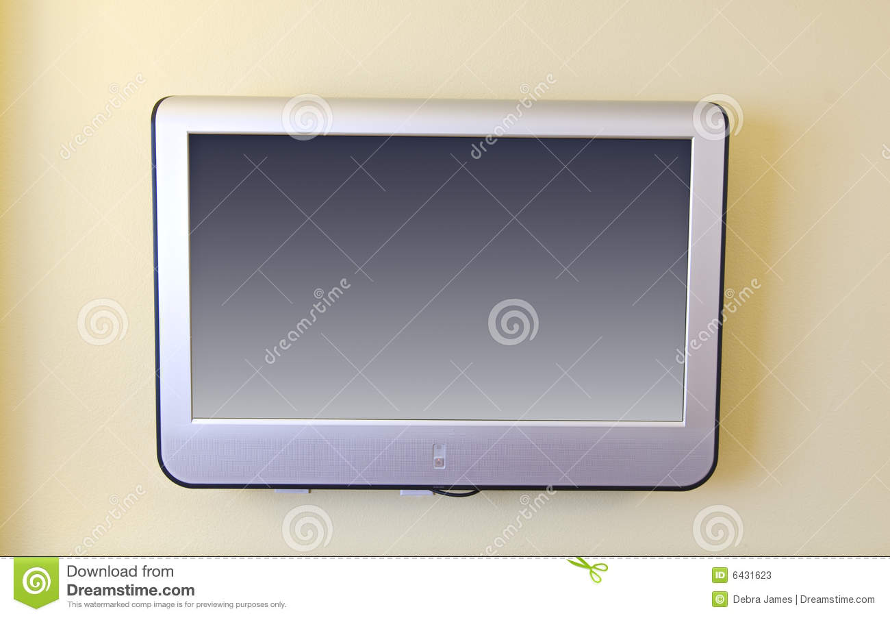 Wall Mounted Flat Screen Tv Stock Image Image 6431623