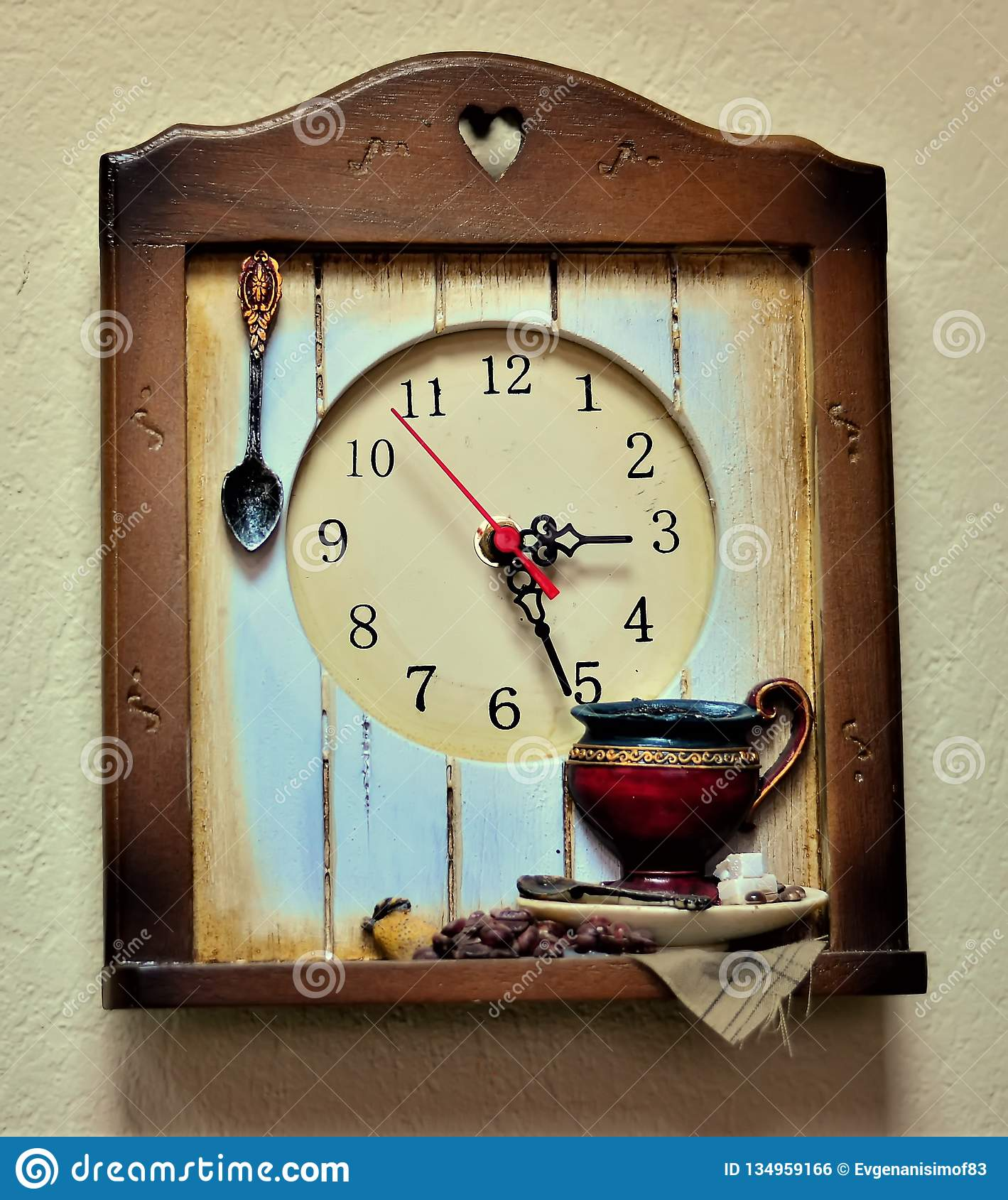 Wall mounted kitchen clock