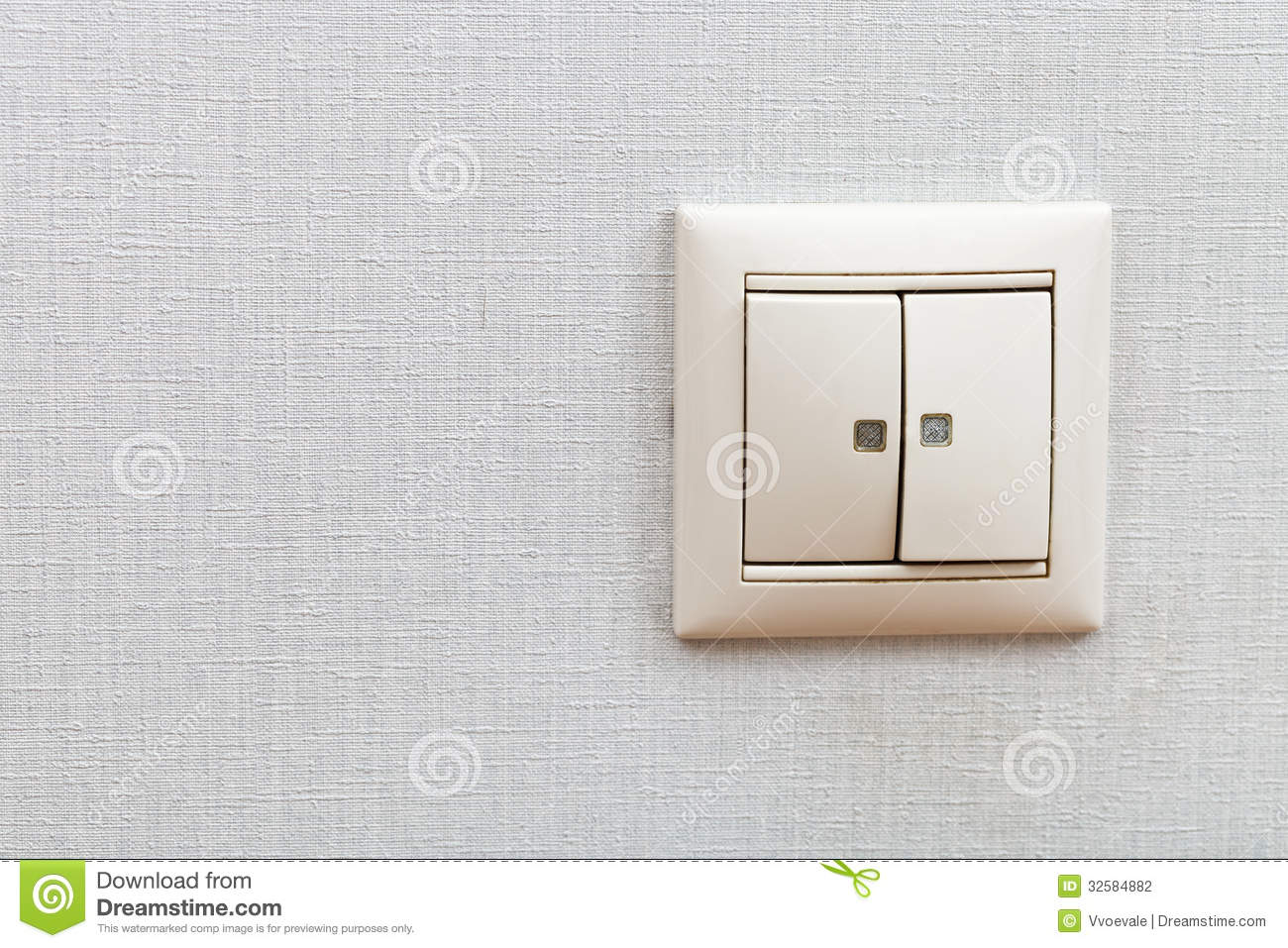 Light switch mounted on white wall stock image image of trunking wall mounted light switch stock photography aloadofball Choice Image