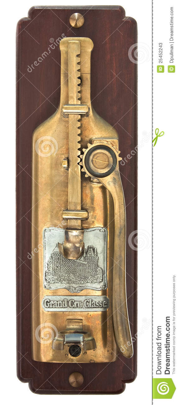 Wall Mounted Wine Bottle Opener Stock Photos Image 25452243