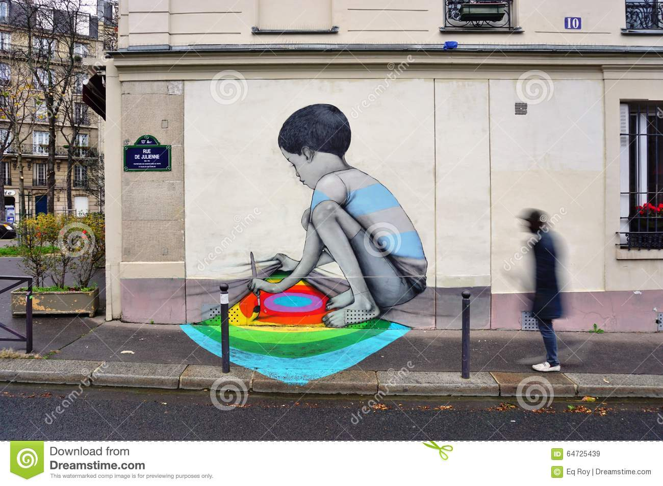wall mural painting by famous french street artist seth wall mural painting by famous french street artist seth globepainter in paris royalty free stock images