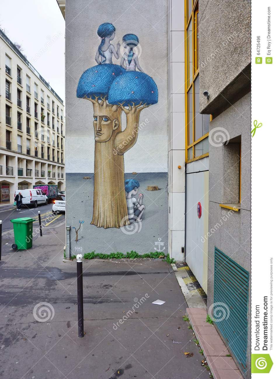 wall mural painting by famous french street artist seth artist france french globepainter julien malland mural paris seth street wall