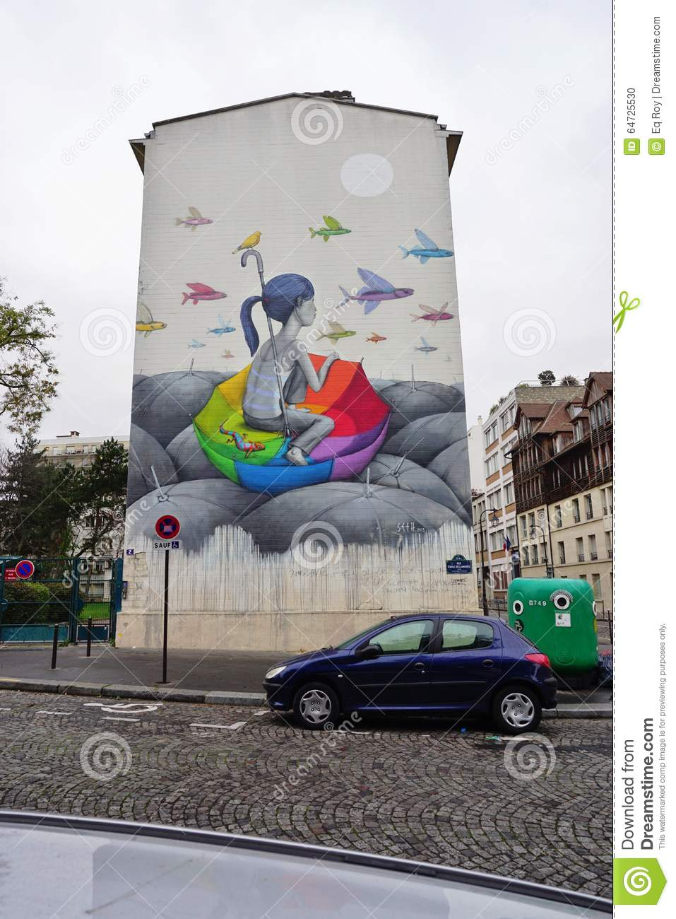 Wall Mural Painting By Famous French Street Artist Seth Globepainter