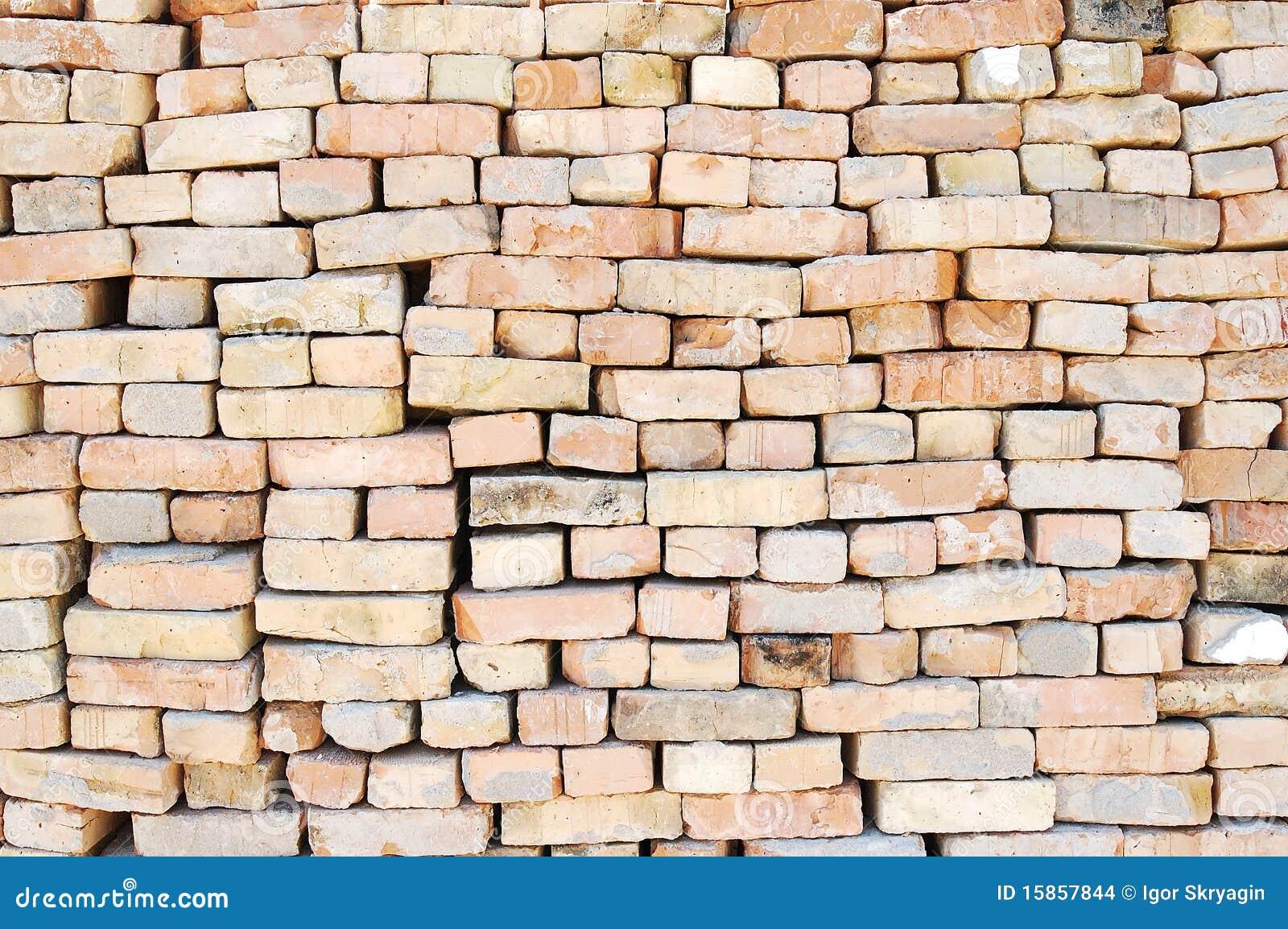 Wall from old bricks