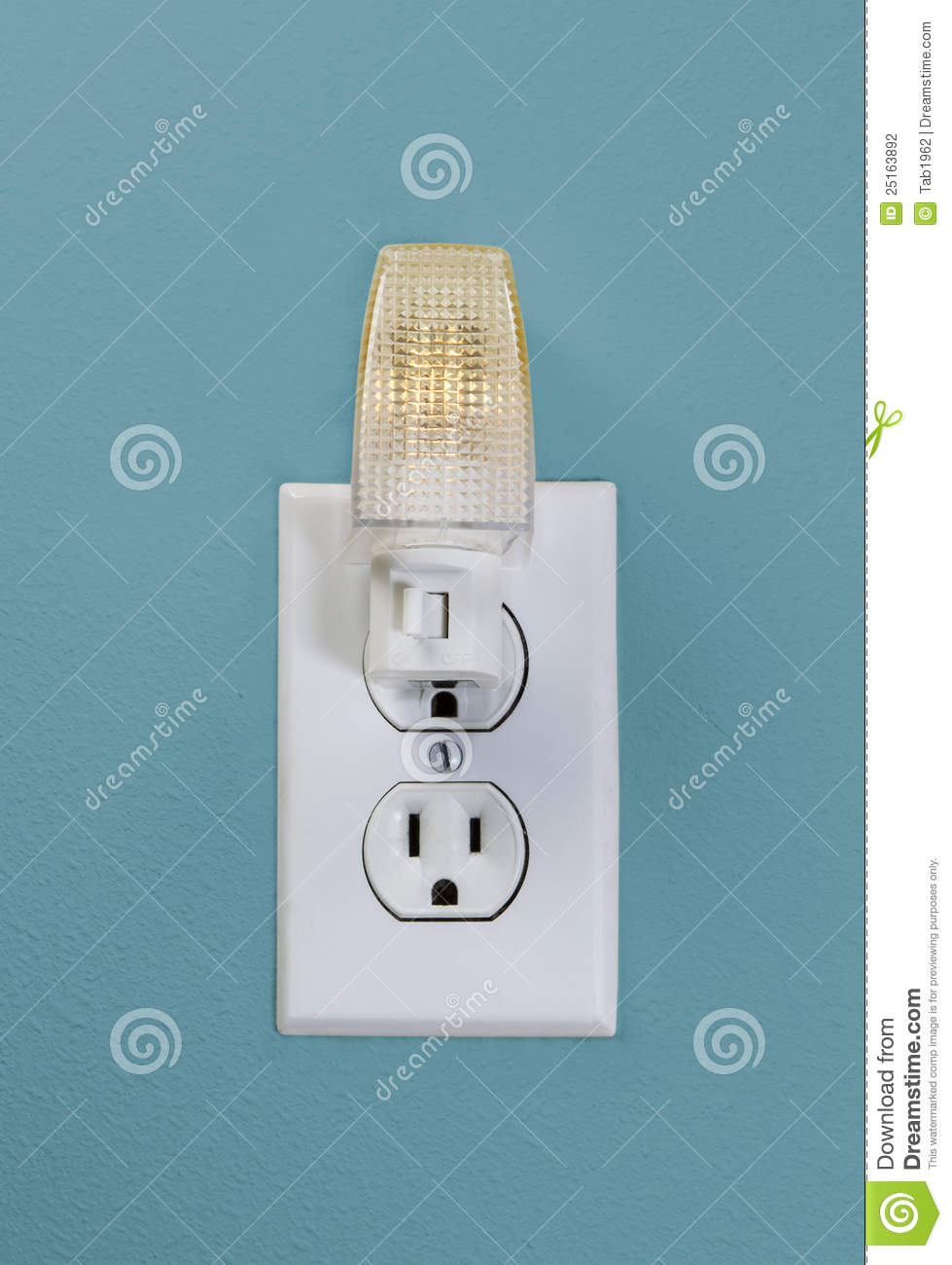 Wall outlet light for night time stock photo image of house white wall outlet light for night time aloadofball Choice Image