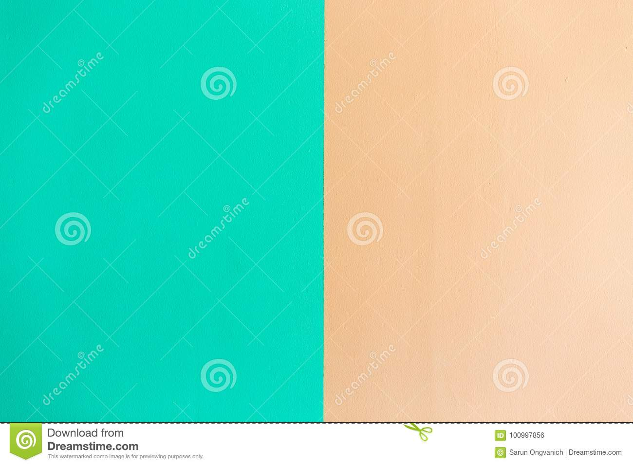 Wall Painted Two Tone stock photo. Image of paint, rough - 100997856