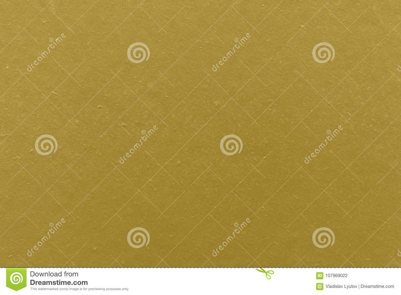 Wall Painted In Yellow Color Texture Background. Stock Photo - Image ...