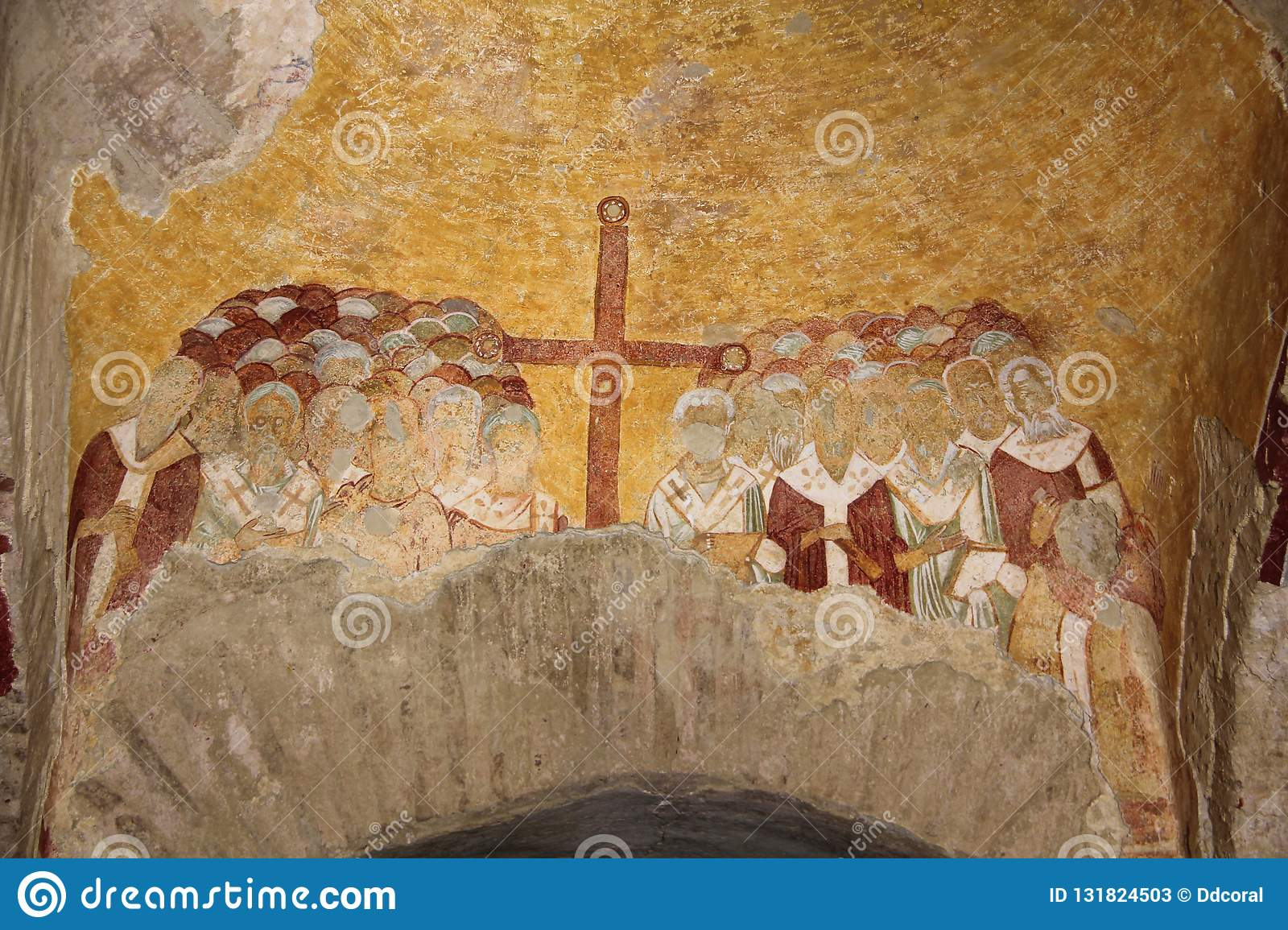 Wall Painting In Saint Nicolas Church In Myra Old Name Demre
